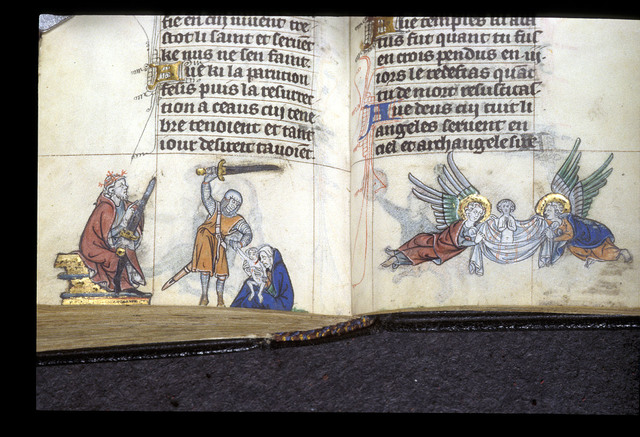 Massacre of the Innocents from BL Stowe 17, ff. 261v-262