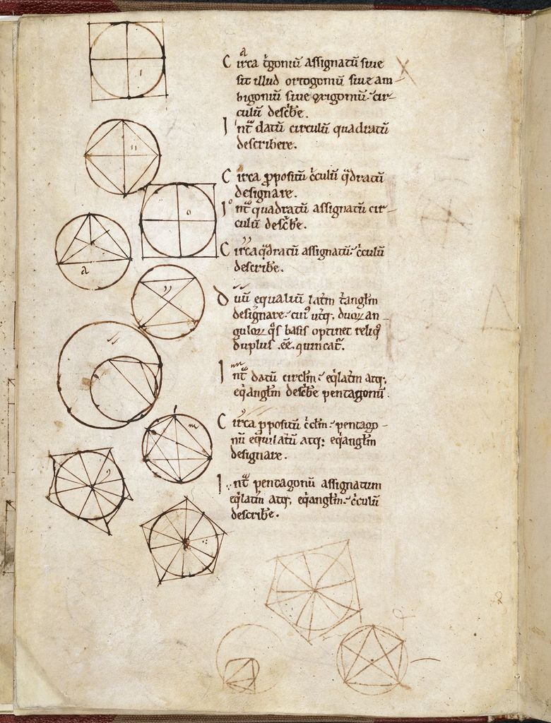Mathematical diagrams from BL Royal 15 A XXVII, f. 11v