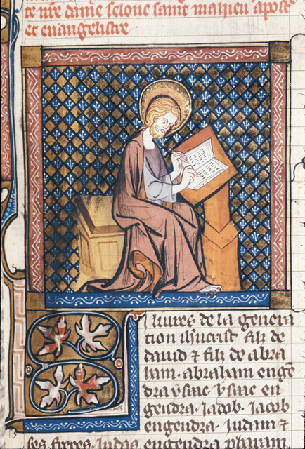 Matthew from BL Royal 18 D VIII, f. 28