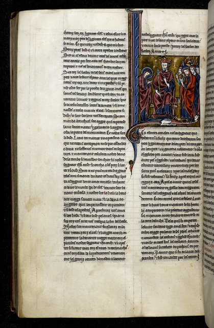 Maxentius and Catherine from BL Royal 20 D VI, f. 178v