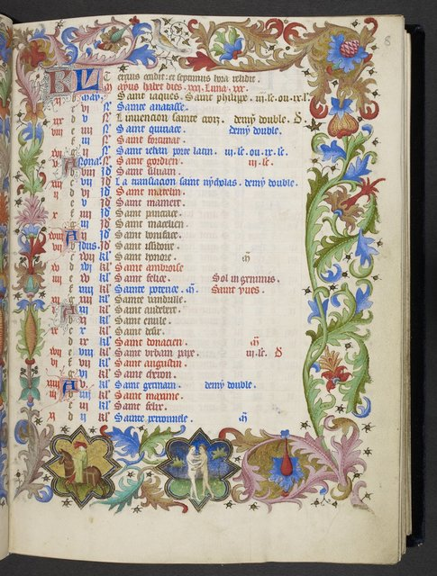 May from BL Eg 1070, f. 8