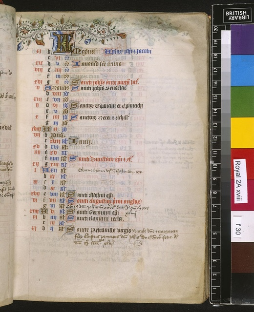 May from BL Royal 2 A XVIII, f. 30