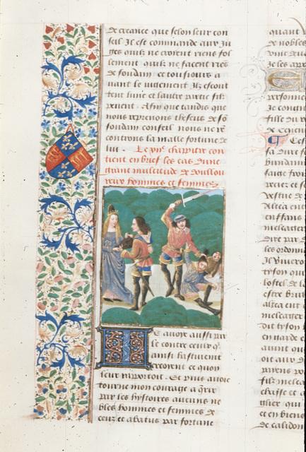 Meleager and Atalanta from BL Royal 14 E V, f. 37v