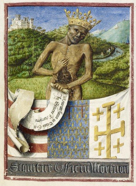 Memento Mori from BL Eg 1070, f. 53