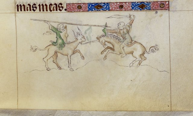 Men fighting from BL Royal 2 B VII, f. 133
