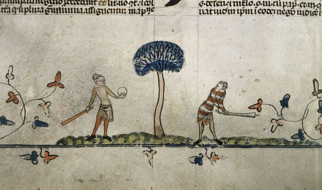 Men playing a game from BL Royal 10 E IV, f. 94v