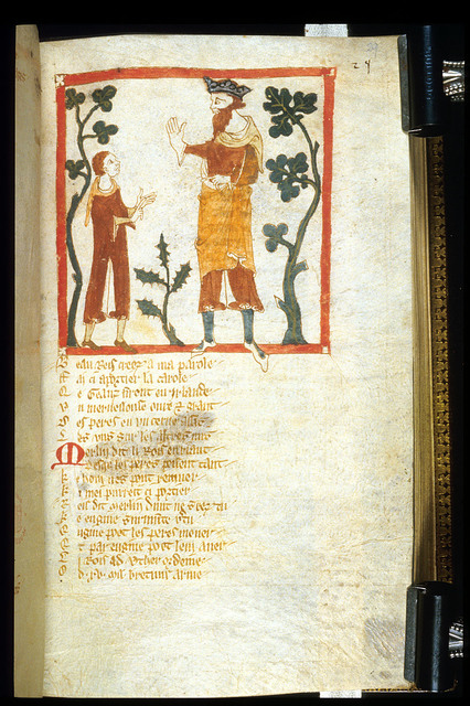 Merlin from BL Eg 3028, f. 29