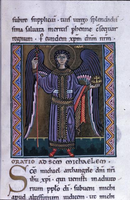 Michael from BL Eg 1139, f. 205