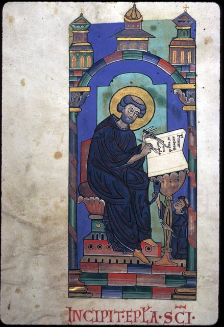 Miniature from BL Harley 2803, f. 1v