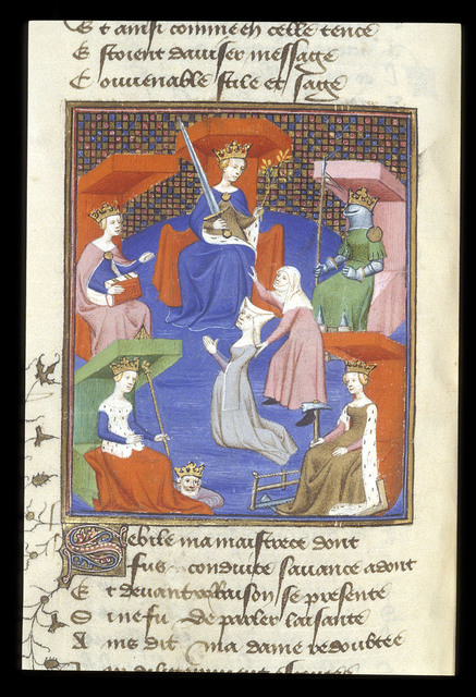 Miniature from BL Harley 4431, f. 218v