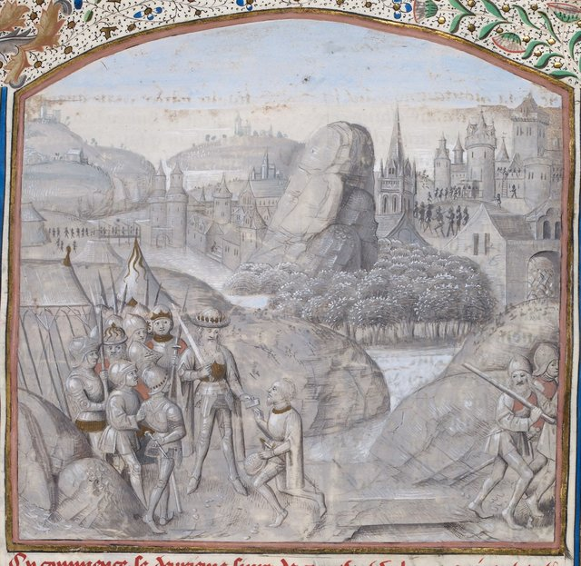 Miniature from BL Royal 15 D IV, f. 38