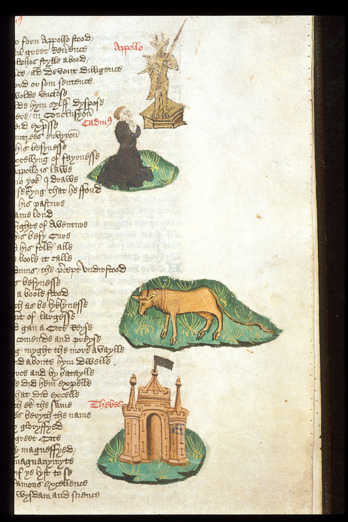Miniatures from BL Harley 1766, f. 28