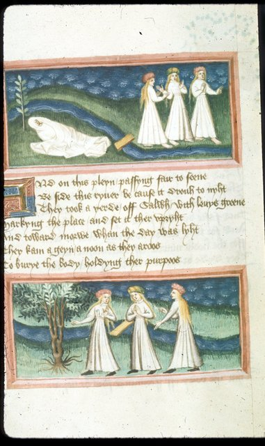 Miniatures from BL Harley 2278, f. 93v