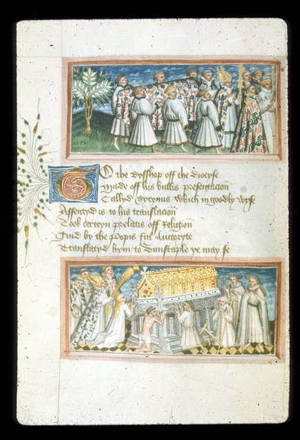 Miniatures from BL Harley 2278, f. 97v