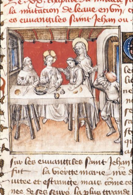 Miracle at Cana from BL Royal 20 B IV, f. 55