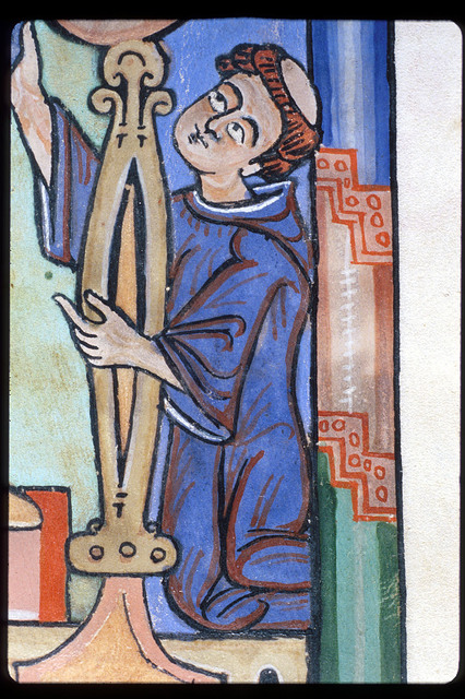 Monk from BL Harley 2803, f. 1v