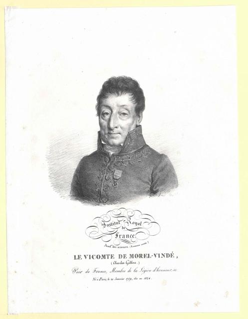 Morel de Vinde, Charles Gilbert Vicomte de