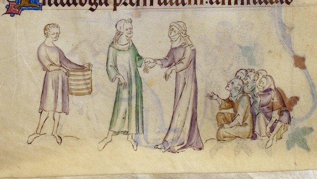 Mother of Thomas of Canterbury from BL Royal 2 B VII, f. 288v
