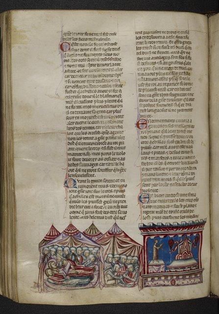 Mourning for Achilles from BL Royal 20 D I, f. 148v
