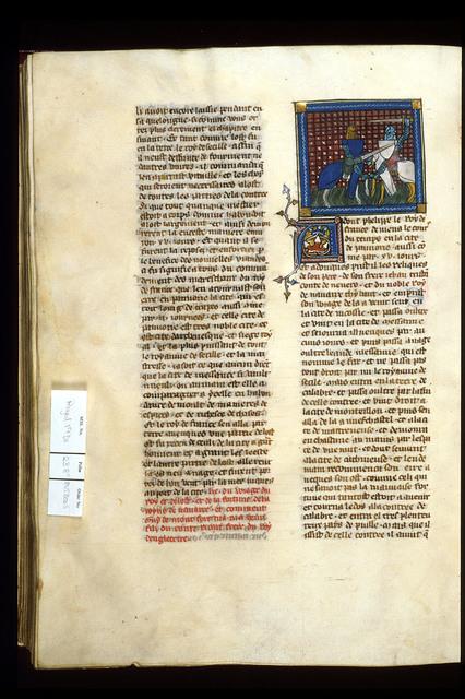 Murder of Henry of Almaine from BL Royal 19 D I, f. 238v