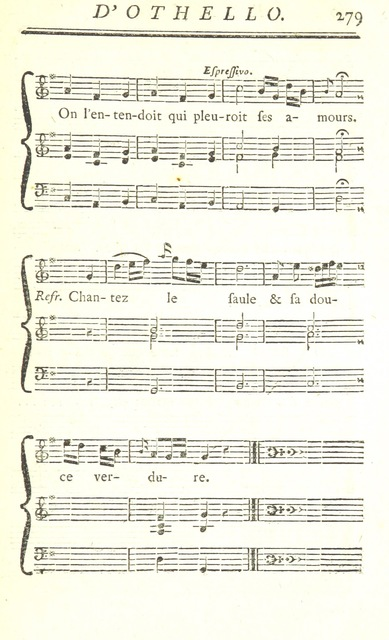 "music from ""Shakespeare traduit de l'anglois. [In prose, by P. Le Tourneur, the Count de Catuelan, and J. Fontaine Malherbe.] (Jubilé de Shakespeare.-Vie de Shakespeare.-Discours des Préfaces.) L.P"""