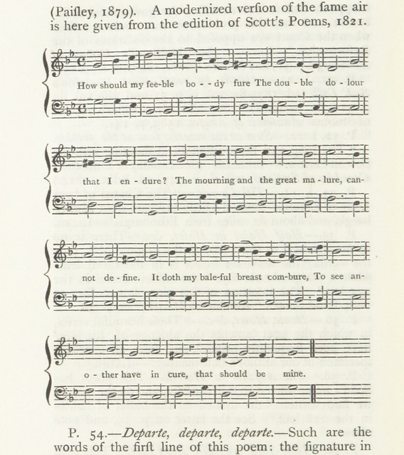 "music from ""The Poems of Alexander Scott. From G. Bannatyne's manuscript compiled A.D. 1568"""