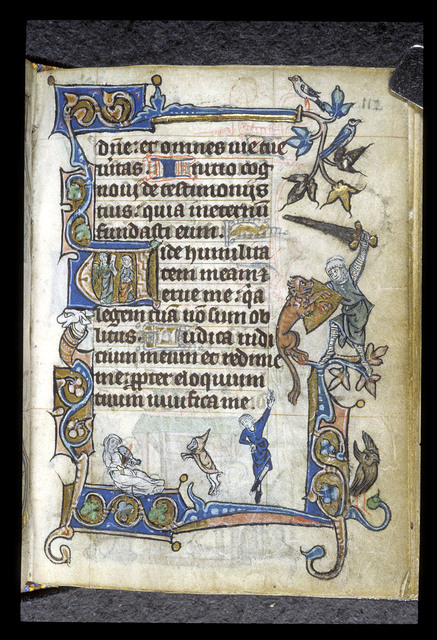 Musician and dancer from BL Stowe 17, f. 112