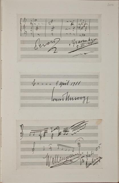 Muzikale bijdrage / van Willem Mengelberg (1871-1951), dirigent en componist, voor het autografenalbum van Rudolf Hugo Driessen (1873-1946) en Caroline Driessen-Kleyn (1883-1938)