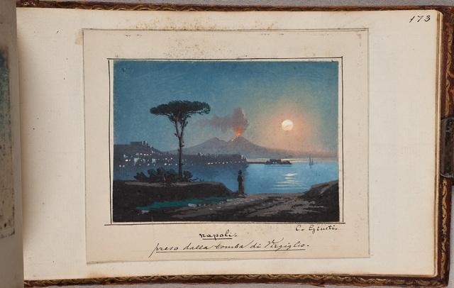 """""""Napoli, preso dalla tomba di Virgiglio"""" / door C. Giusti"""