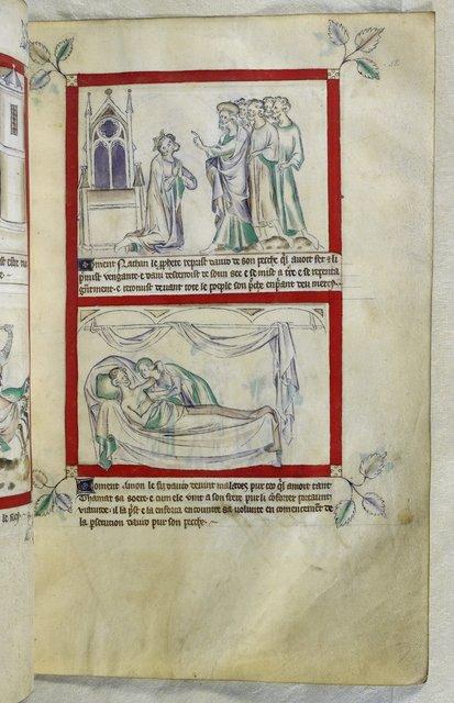 Nathan, David, Amnon and Tamar from BL Royal 2 B VII, f. 58