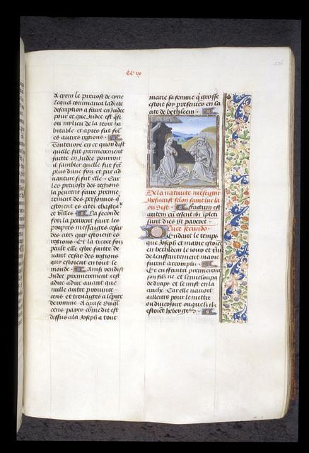 Nativity from BL Royal 15 D I, f. 226