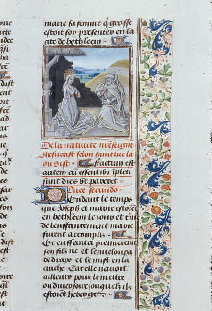 Nativity from BL Royal 15 D I, f. 226