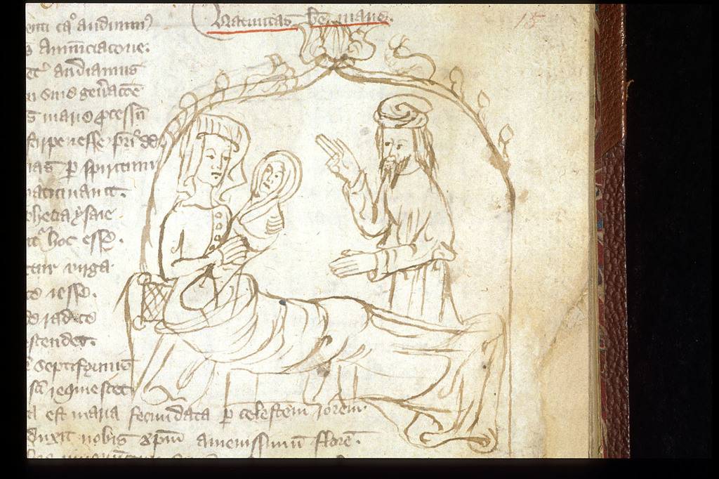 Nativity of the Virgin from BL Sloane 3451, f. 15