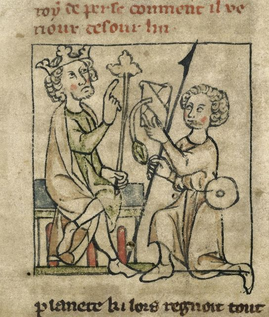 Nectanebus from BL Royal 20 A V, f. 2