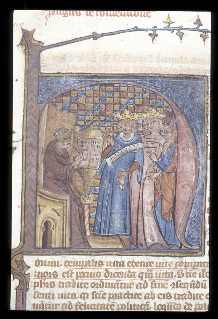 Nicholas of Lyre from BL Royal 3 D VII, f. 1