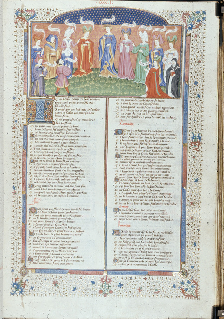 Noblesse and twelve other persons from BL Royal 15 E VI, f. 403