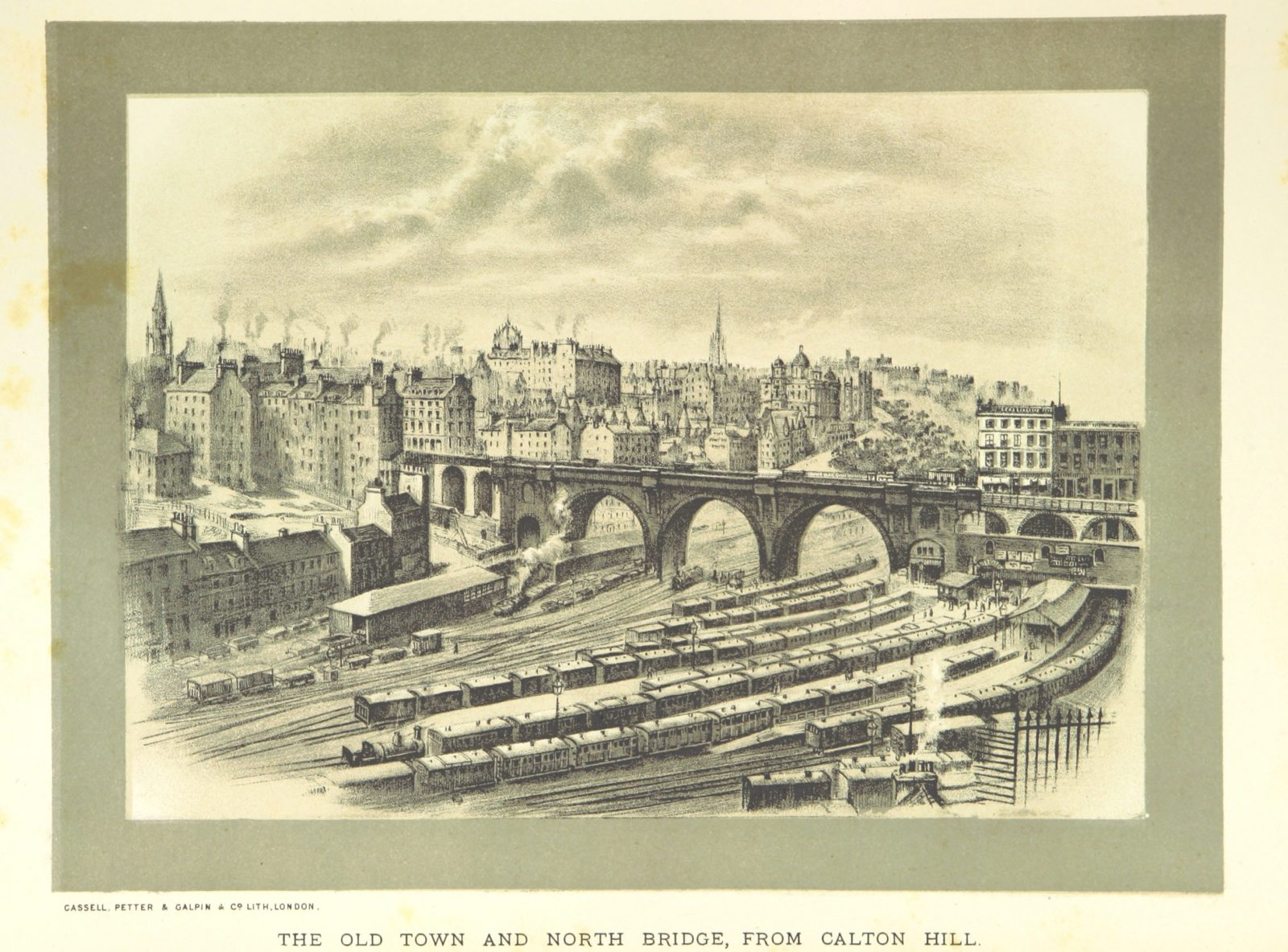 "North Bridge from ""Cassell's Old and New Edinburgh, etc"""