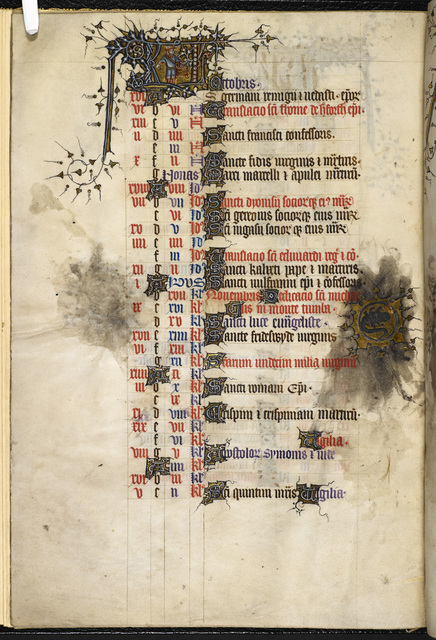 October from BL Eg 3277, f. 5v