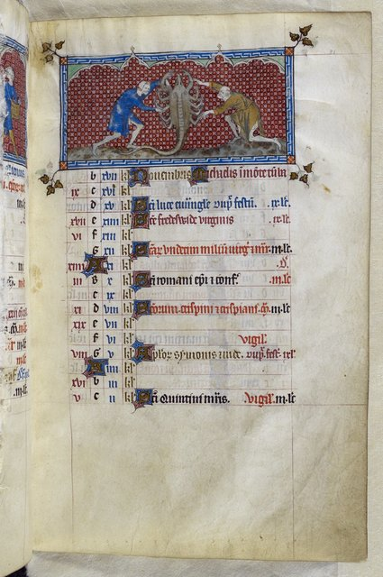 October from BL Royal 2 B VII, f. 81