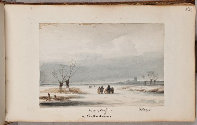 """""""Op de plassen in Rotterdam"""" / door [Lodewijk Johannes] Kleijn (1817-1897)"""