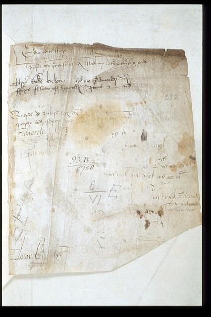 Original flyleaf from BL Harley 1758, f. 232