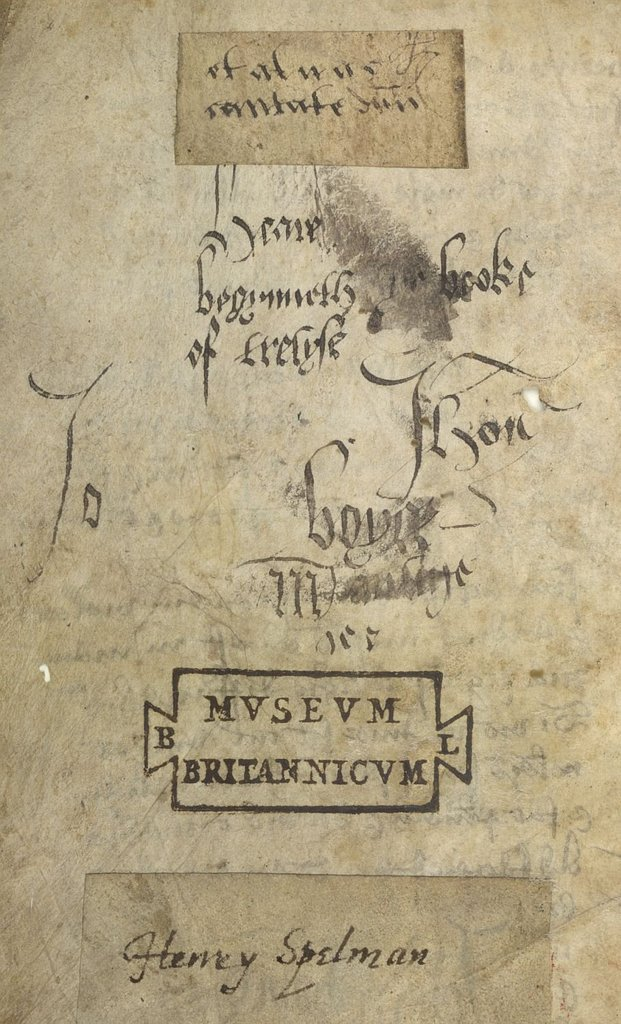 Ownership inscription from BL Lansdowne 348, f. 1v