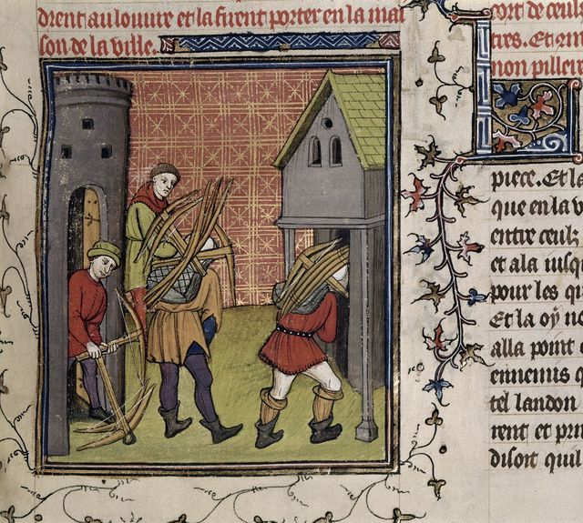 Parisians removing arms from BL Royal 20 C VII, f. 132