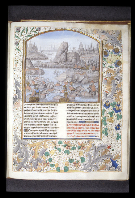 Passage of Oxus from BL Royal 15 D IV, f. 145