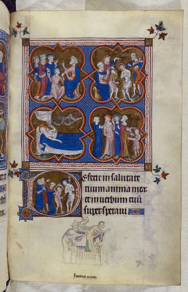 Passion of Christ from BL Royal 2 B VII, f. 249