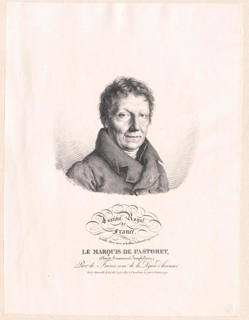 Pastoret, Emmanuel Claude Joseph Pierre