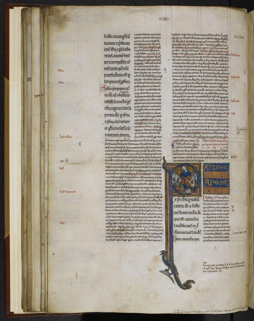 Paul preaching from BL Royal 4 D VIII, f. 39v