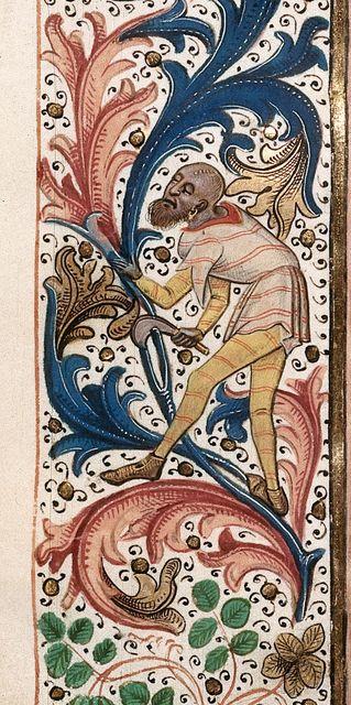 Peasant from BL Royal 15 E IV, f. 57v