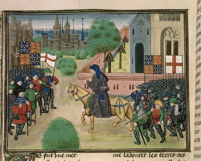 Peasants' revolt from BL Royal 18 E I, f. 165v