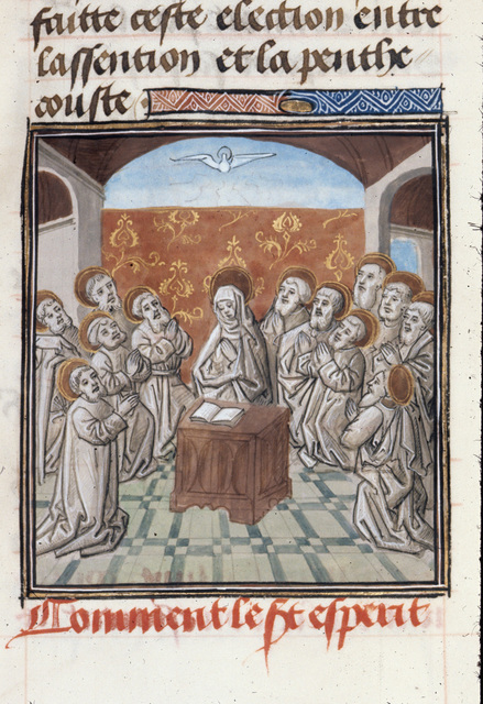 Pentecost from BL Royal 15 D I, f. 376